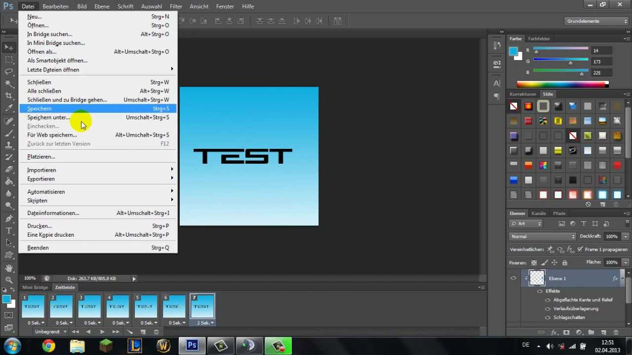 Photoshop Cs6: Animation erstellen - YouTube