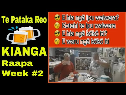 TE PATAKA REO - KIANGA- WEEK #2 MĀORI LANGUAGE REVITALISATION TIPS, VIDEOS & RESOURCES from YouTube · Duration:  6 minutes 49 seconds