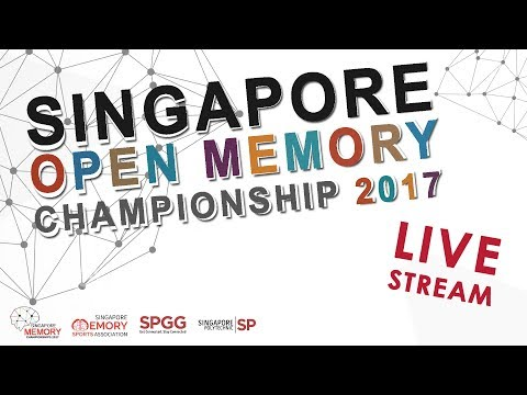 Singapore Open Memory Championships 2017 (LIVE STREAMING | Day 2)