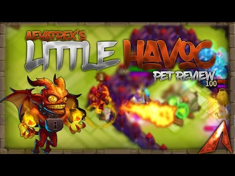 Castle Clash Full Pet Review! Little Havoc! Legendary Pet!