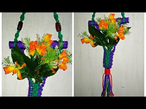 Diy Macrame Wall Hanger Hanging Flower Pot