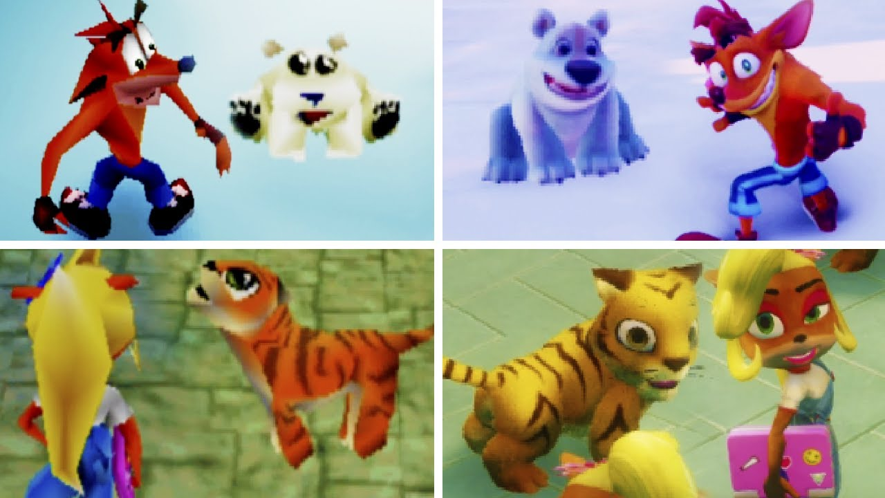 Evolution of Riding Levels in Crash Bandicoot Games (1996-2020)