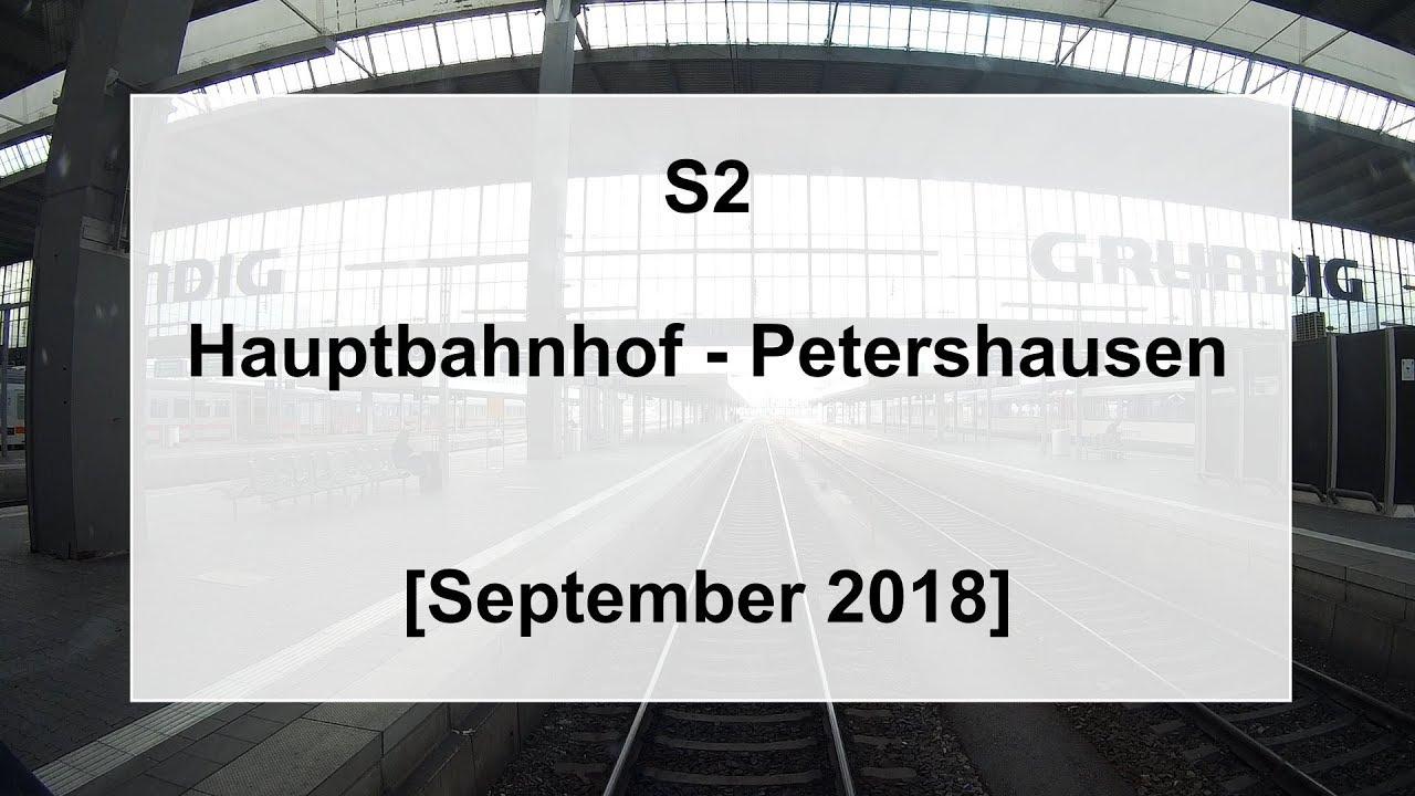 Führerstandsmitfahrt 2018 S Bahn München S2 Hauptbahnhof Petershausen Baustellenverkehr