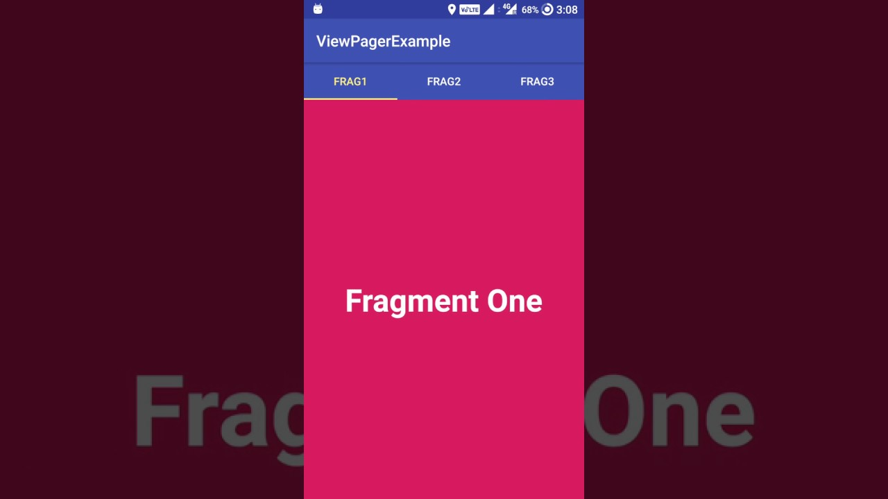 Create a simple ViewPager Tabs in Android - GadgetSaint