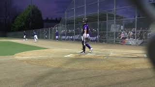 Nate Clow baseball 2018 - double to LC Fence off State Champions Puyallup HS
