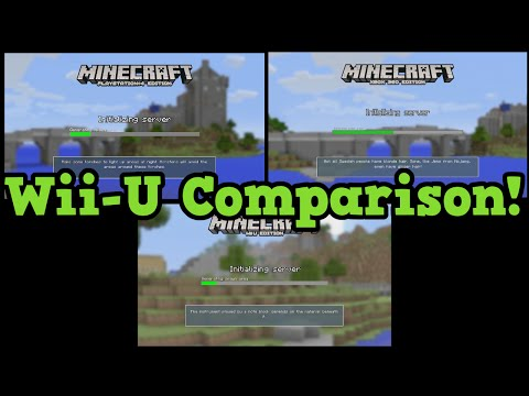 Minecraft Wii U vs PS4 vs Xbox 360 Compared World Size Render Distance Review