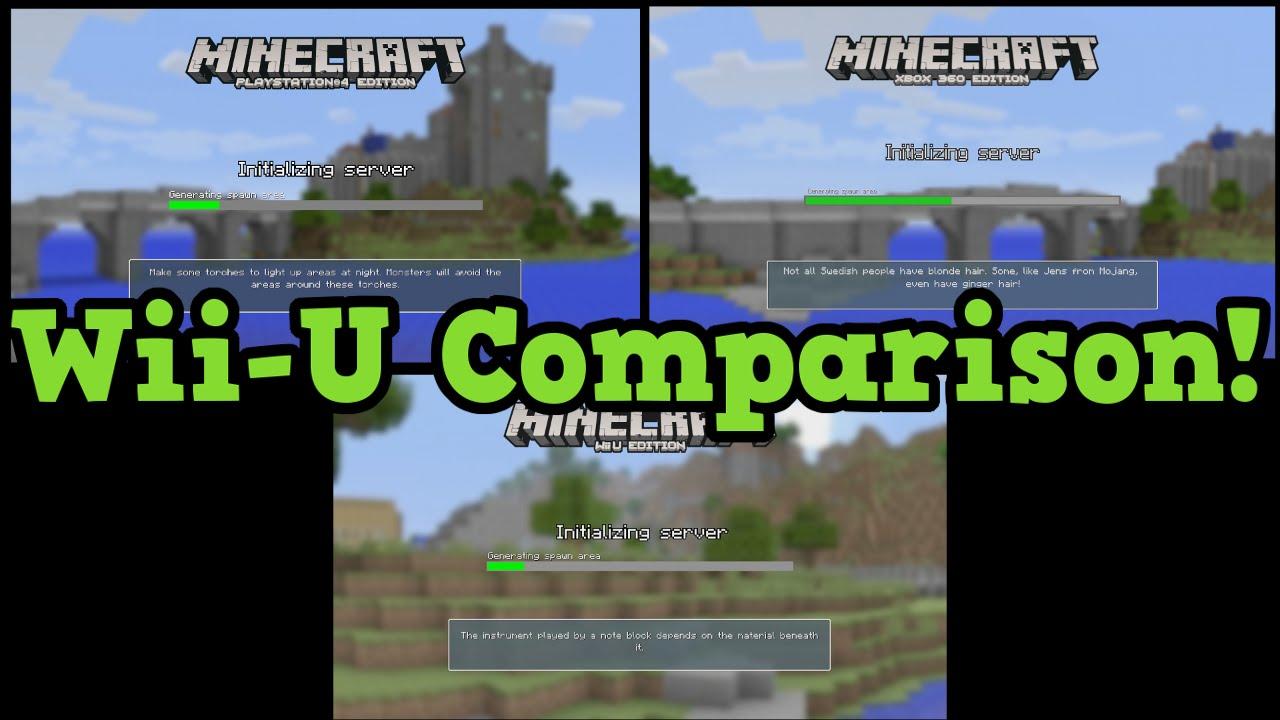 Minecraft Wii U Vs PS Vs Xbox Compared World Size Render - Maps fur minecraft wii u