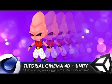 "TUTORIAL CINEMA 4D + UNITY ""Animare un personaggio + ThirdPe"
