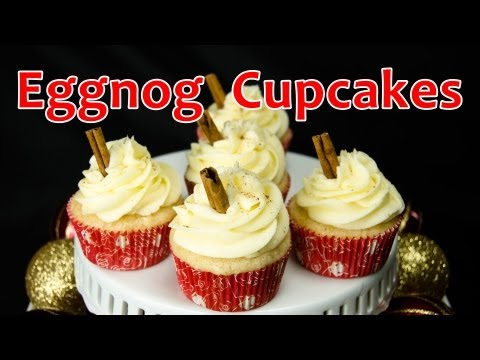 How to Make Eggnog Christmas Cupcakes from Cookies Cupcakes and Cardio