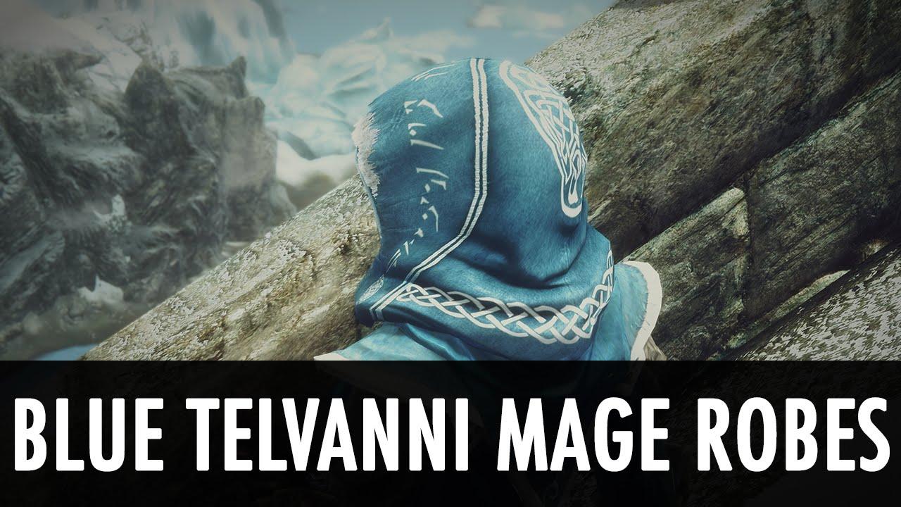 skyrim mod spotlight blue telvanni mage robes youtube