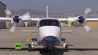 El avión eléctrico X-57 de la NASA calienta por primera vez sus motores
