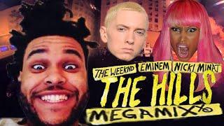 The Weeknd, Eminem, & Nicki Minaj - The Hills MEGAMIX [BEST] [Explicit] with Lyrics