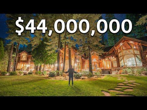 Touring a $44,000,000 Lake Tahoe WATERFRONT Mansion