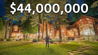 Touring a $44,000,000 Lake Tahoe WATERFRONT Mansion