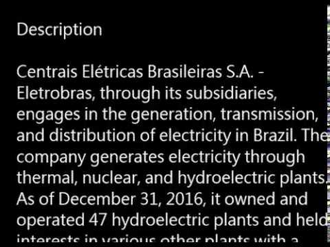 EBR.B.NYSE - Centrais Elétricas Brasileiras S.A. - Eletrobras(EBR-B) buy or sell? basic profile