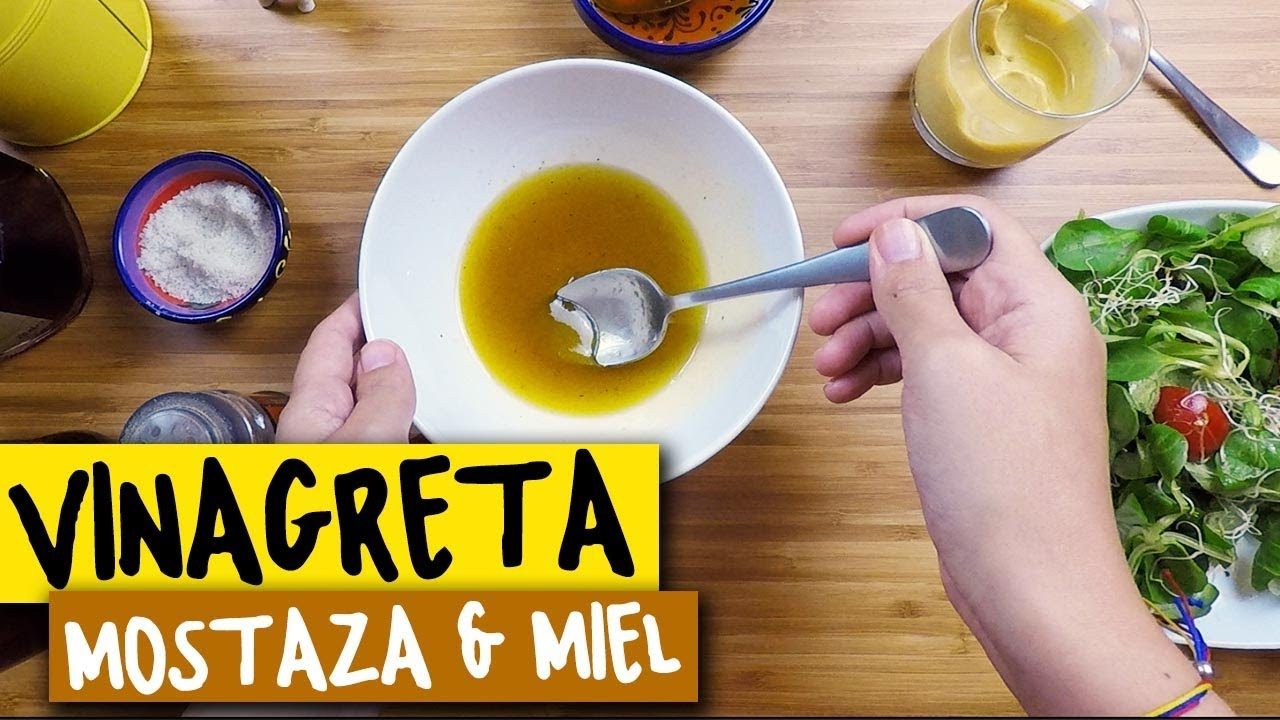 salsa vinagreta con mostaza para ensaladas