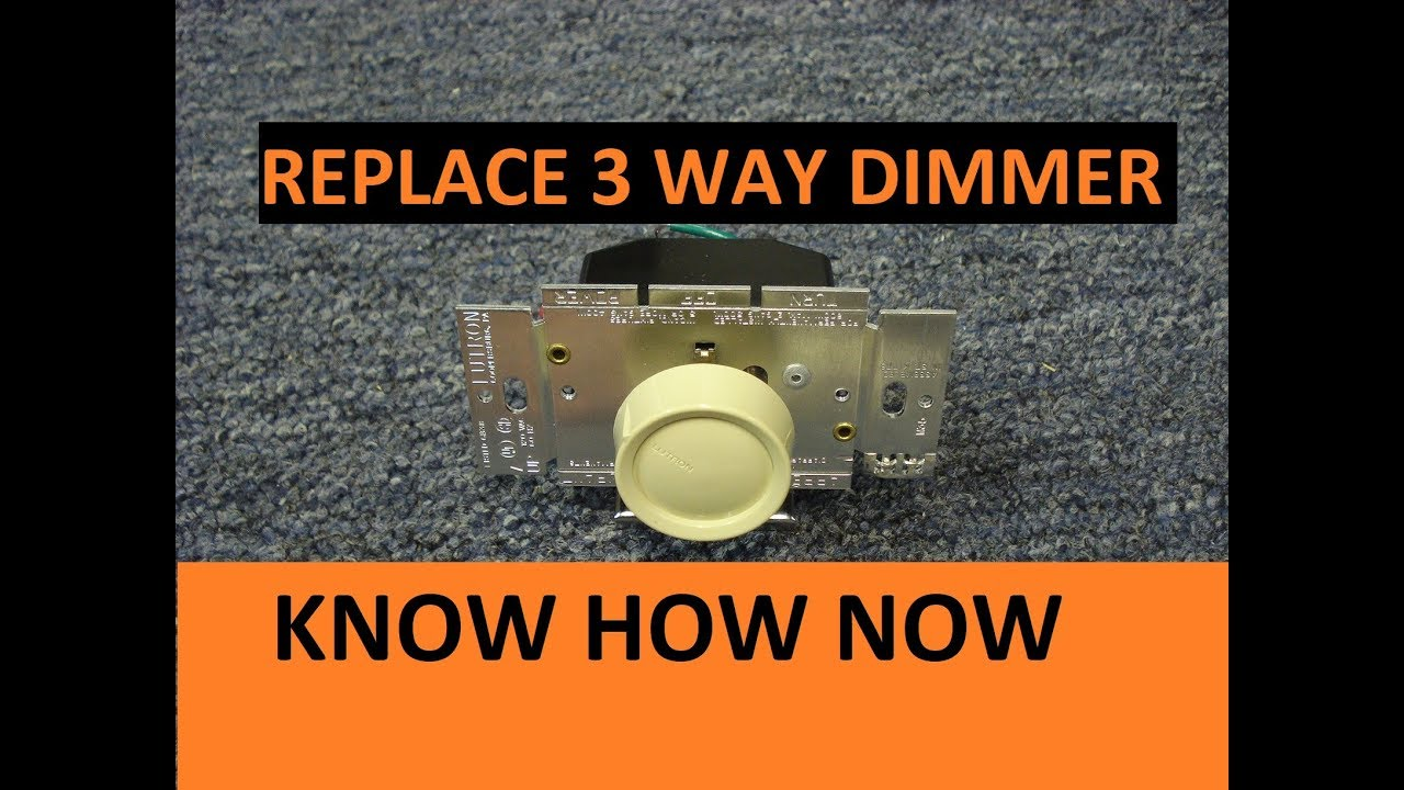 How to Replace a 3 Way Switch With Dimmer - YouTube