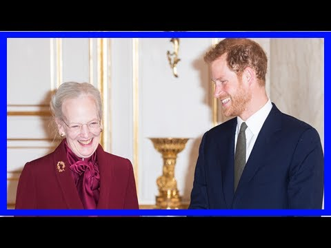 Breaking News | Prince harry, the charmer! see denmark's queen margrethe dissolve into giggles duri