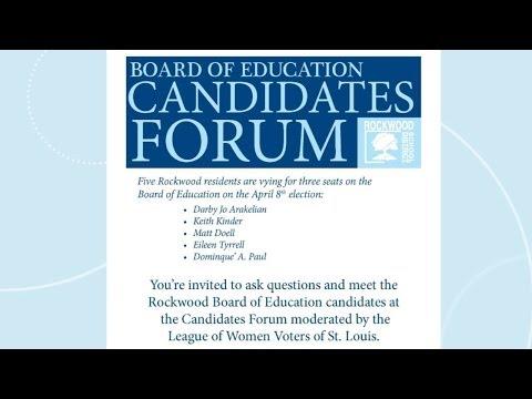 Rockwood Board of Education Candidates Forum 2014