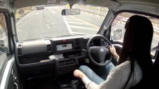 軽トラックの運転 木曽町内を走る