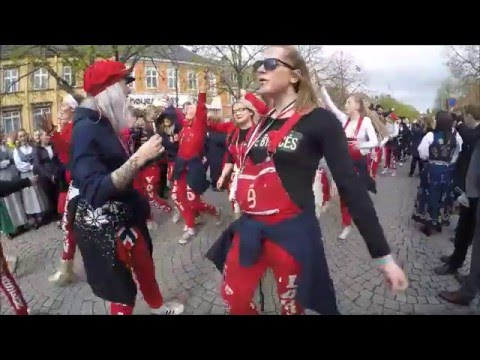 See how Norwegian high school students celebrating Constitut