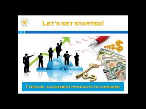 Types of Investment Products a TTSEC Investor Education webinar