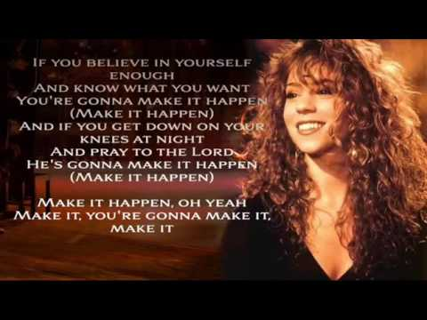 Credit by 'Mari Angels' - Karaoke for male - Make It Happen  Mariah Carey