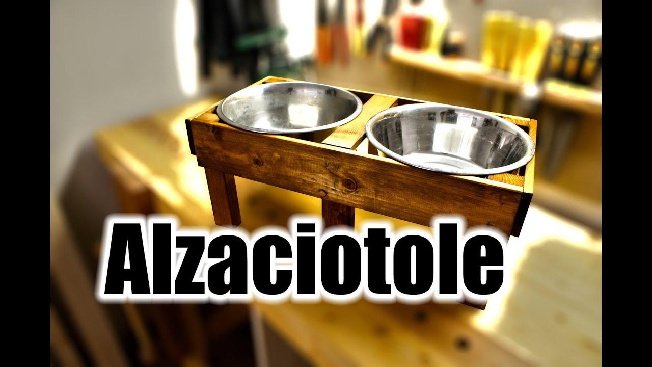 Costruire un 39 alzaciotole per cani youtube for Costruire box per cani