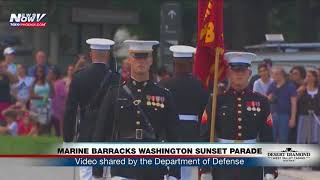 MARINE BARRACKS WASHINGTON SUNSET PARADE: At the Lincoln Memorial in D.C. (FNN)