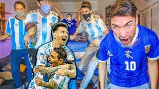 Reacciones de amigos | Argentina vs Ecuador | CUARTOS Copa América 2021