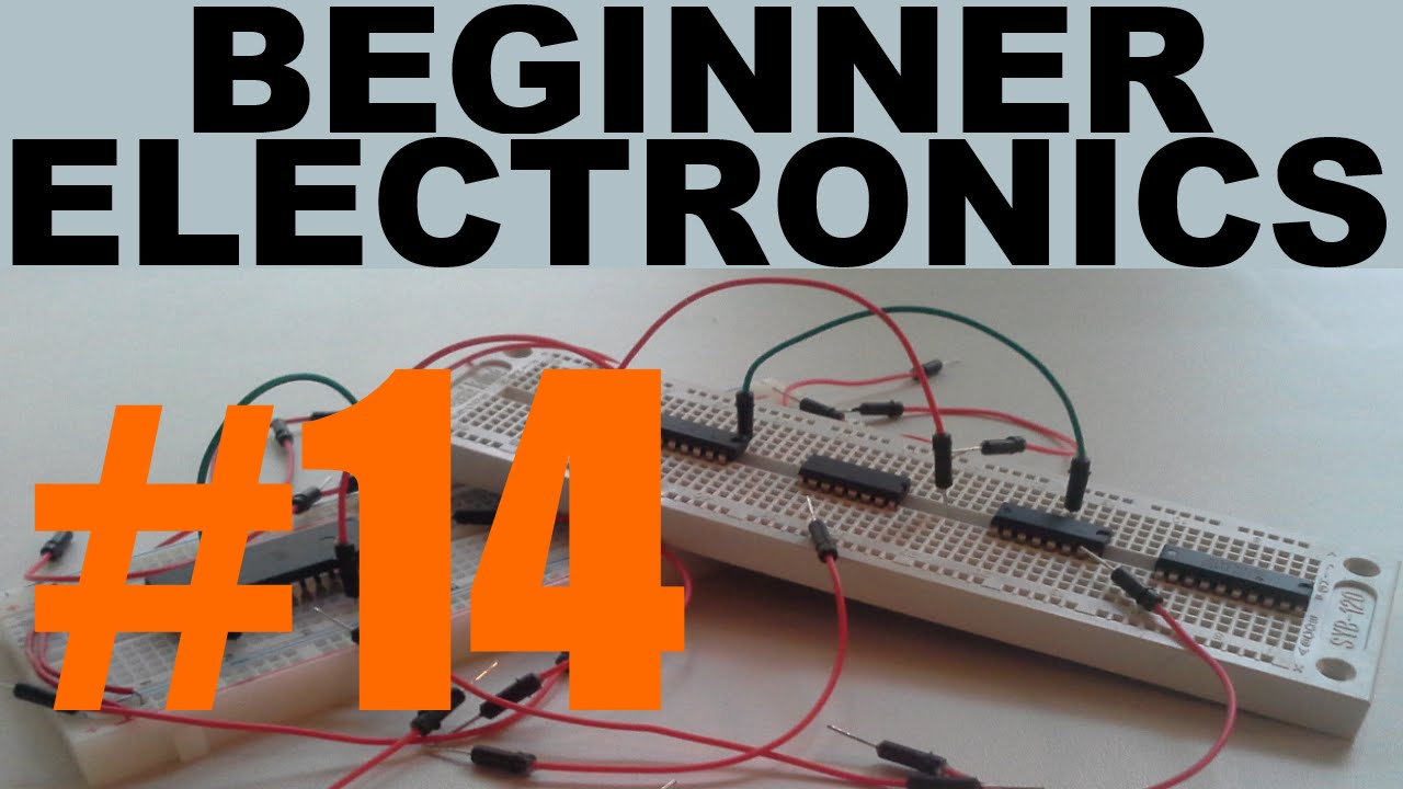 Beginner Electronics 14 Circuit Design Build And Measuring Lab 4 Digital Analogue Integrated Circuits Diode Youtube