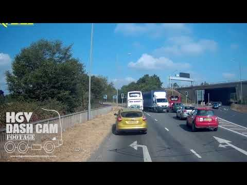 Van driver makes a shocking turn into oncoming traffic