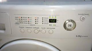 ERROR 4E - Avería lavadora Samsung (WF7600NAW), Solución.[Washer Fault, Solution]