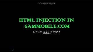 HTML Injection in SamMobile.com