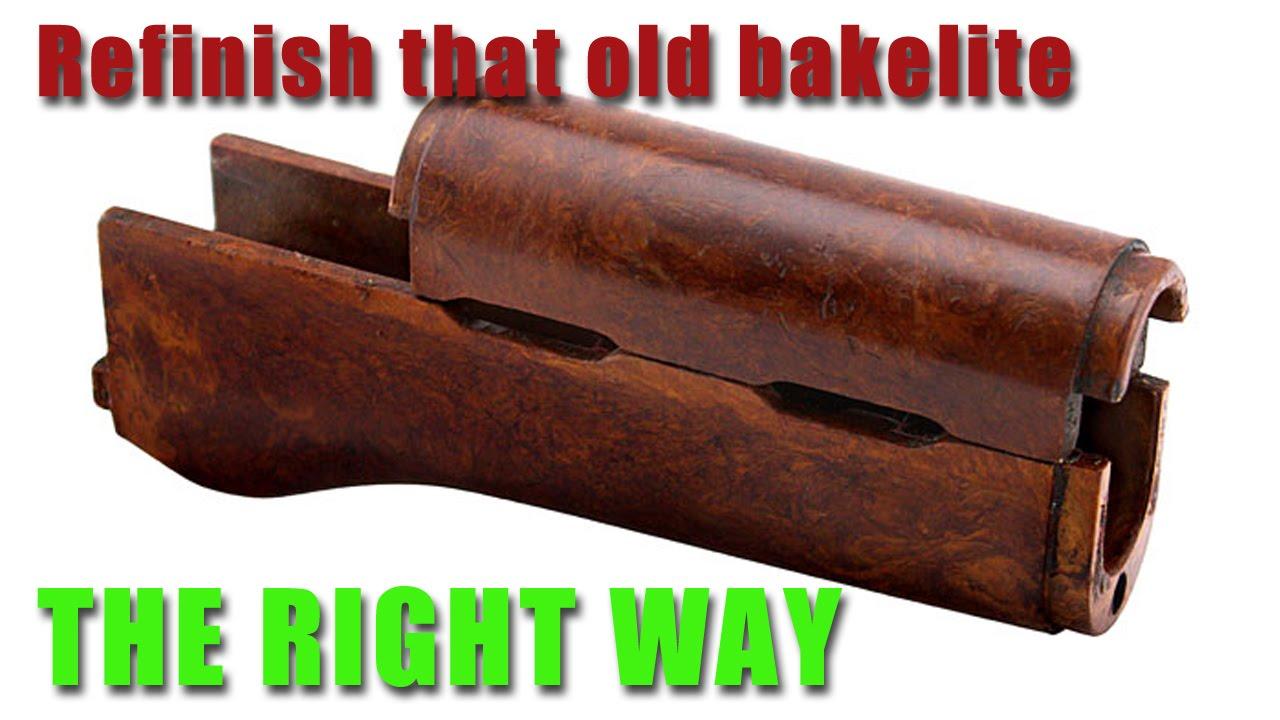 Restore bakelite on an AK 47