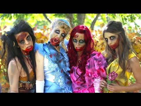 Thumbnail: How To Make Zombie Disney Princess Makeup and Costumes!