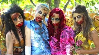 How To Make Zombie Disney Princess Makeup and Costumes!