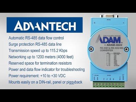 Unpacking Advantech's ADAM 4522  (RS232 to RS422/485 Converter)