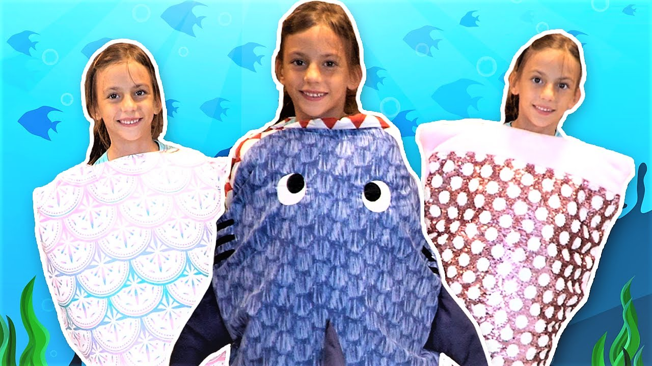 5 little Sharks funny kids song