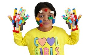 Masal and mommy play with lego - funny kids