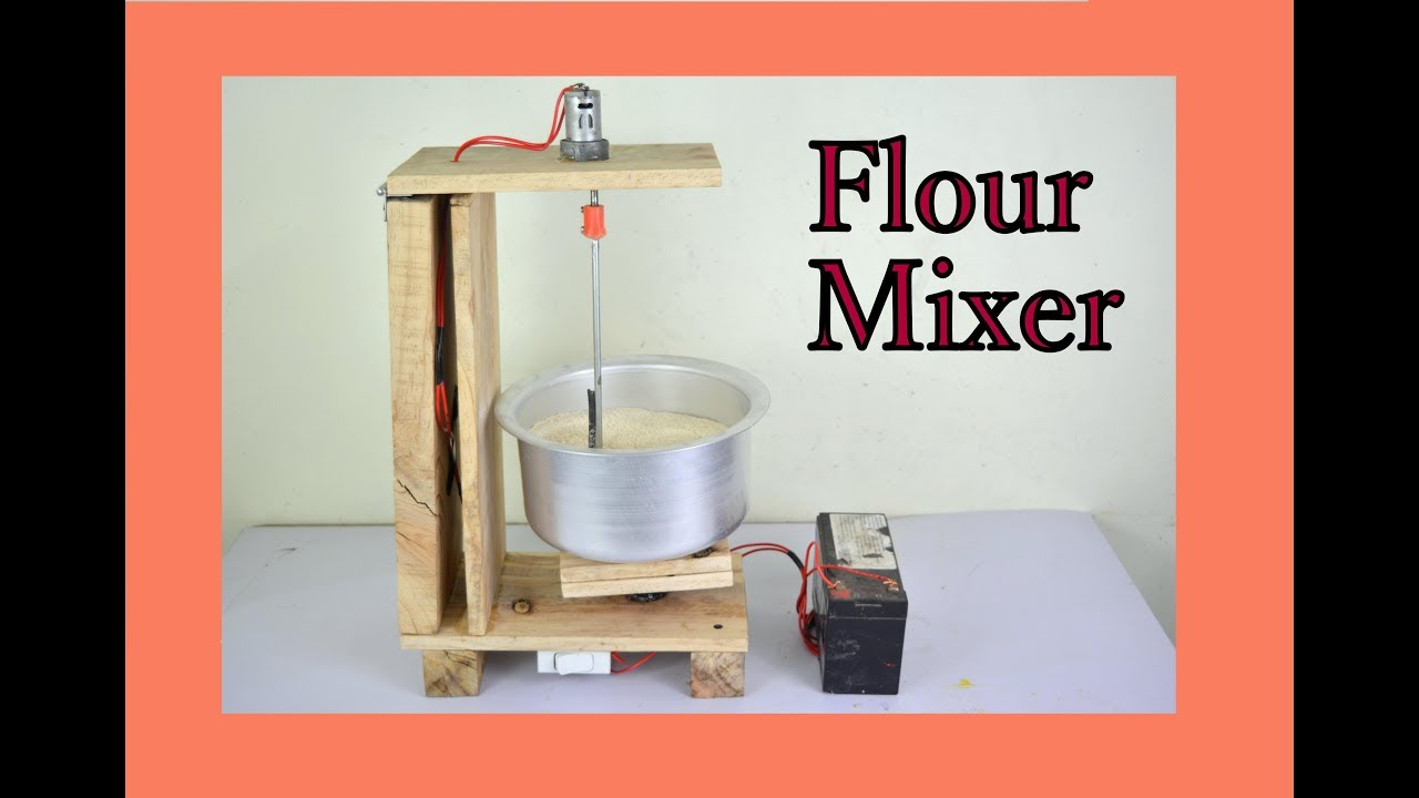 Simple Exhibition Stand Mixer : How to make dc stand mixer flour mixer at home youtube