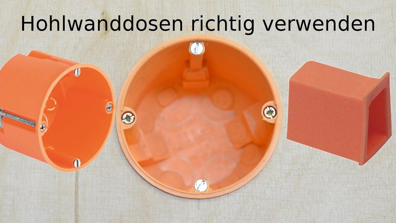 UP HW 107x107x50 Abzweigkasten Verteilerdose Hohlwand orange Hohlraum mit Deckel