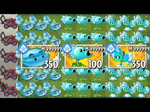 All Ice Plants MASTERY 999999 Power-Up! in Plants vs Zombies 2