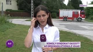 Országszerte több mint száz helyszínen dolgoznak a tűzoltók a tegnapi viharkárok felszámolásán
