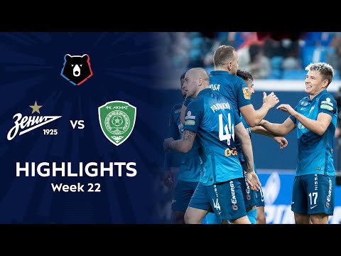 Zenit Petersburg Akhmat Grozny Goals And Highlights