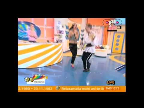 Oops OnTV Game Show - dance on morning show - slips