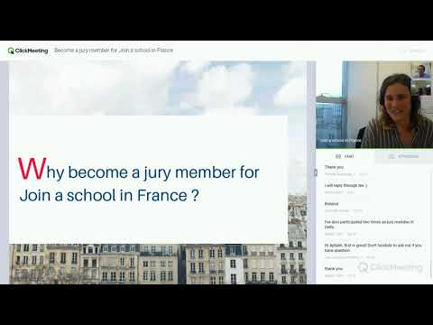 Webinar - Join a school in France