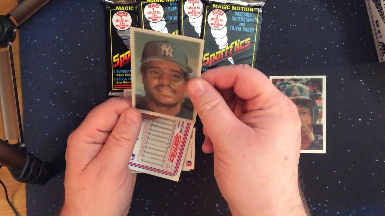 1986 Sportflics Baseball Building A Pack Fresh Set Part 1