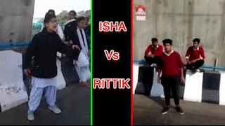 Narazgi song street battel  isha andotra vs  rittik dograschool girl and boy hidden talent
