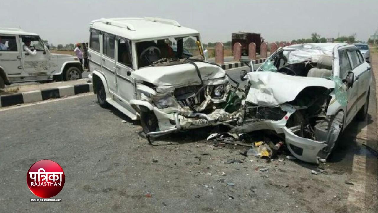 news car bolero accident in bhiwadi alwar - youtube